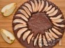 Рецепта Шоколадов сладкиш с круши и мед печен на водна баня